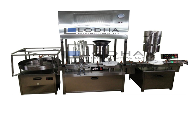 Vial Filling and Stoppering Machine