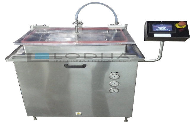 Linear vial washing machine